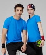 150g速干双袖边圆领短袖T恤通款 158-249