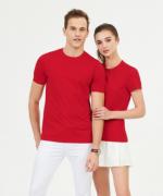水柔匹马棉圆领短袖T恤衫男女款 SGC-Y99011