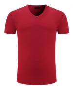 200克莱卡棉平纹套头休闲V领T恤 HD-1825