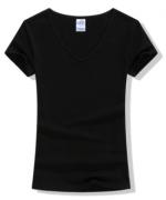 200g莱卡V领短袖T恤女款LS-1009女