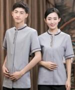棉麻长城保洁服短袖上衣LYDS-20F253-254