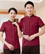 门襟刺绣保洁服短袖上衣45-8831-8833