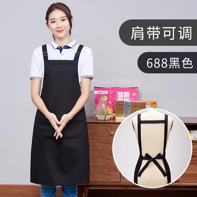 双肩带纯棉防水可调节围裙121-688