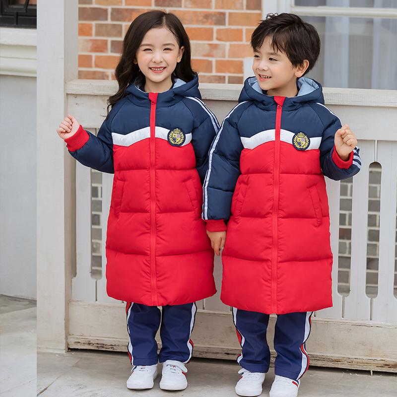 长款棉衣中小学生外套儿童班服保暖运动外套168-721