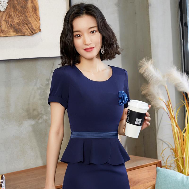 收腰显瘦假两件职业连衣裙LLY-505