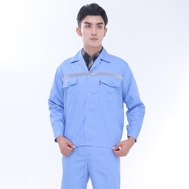 全工艺涤棉细斜纹单反系扣工装上衣SDF-SL1301-SL1306上衣
