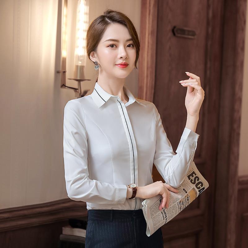 通勤知性优雅长袖衬衫女KL-18215