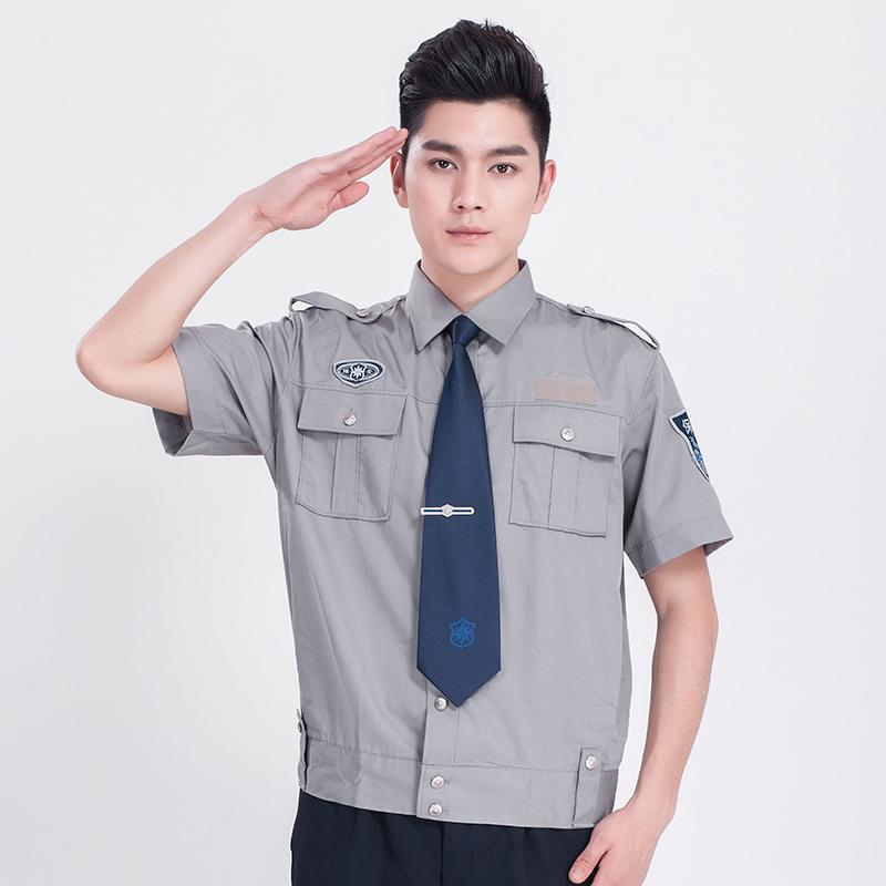 新式物业保安服短袖衬衣(送配件)AGR-N001