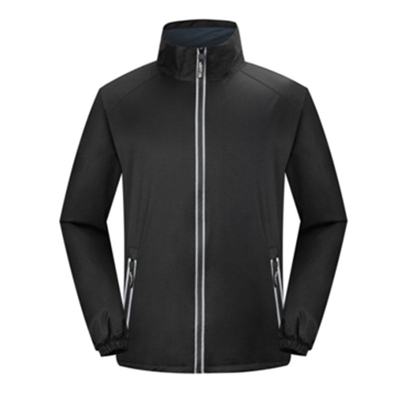 210g摇粒绒反光条立领冲锋衣95-8801