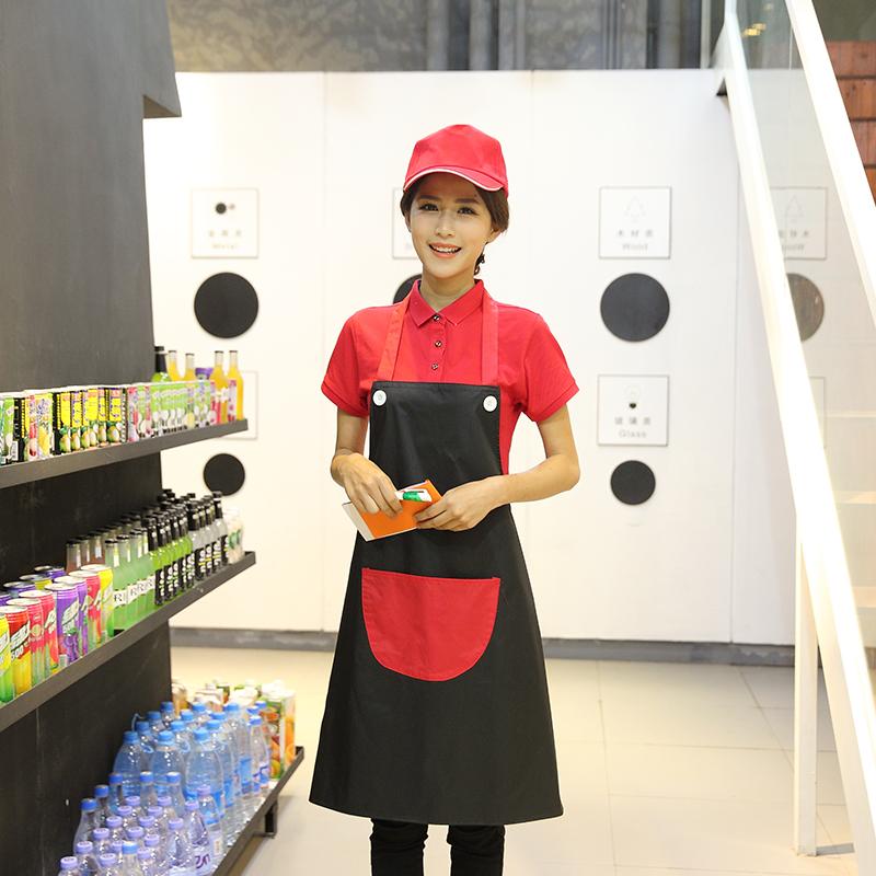 时尚加厚弧形兜防水围裙WH-Y003