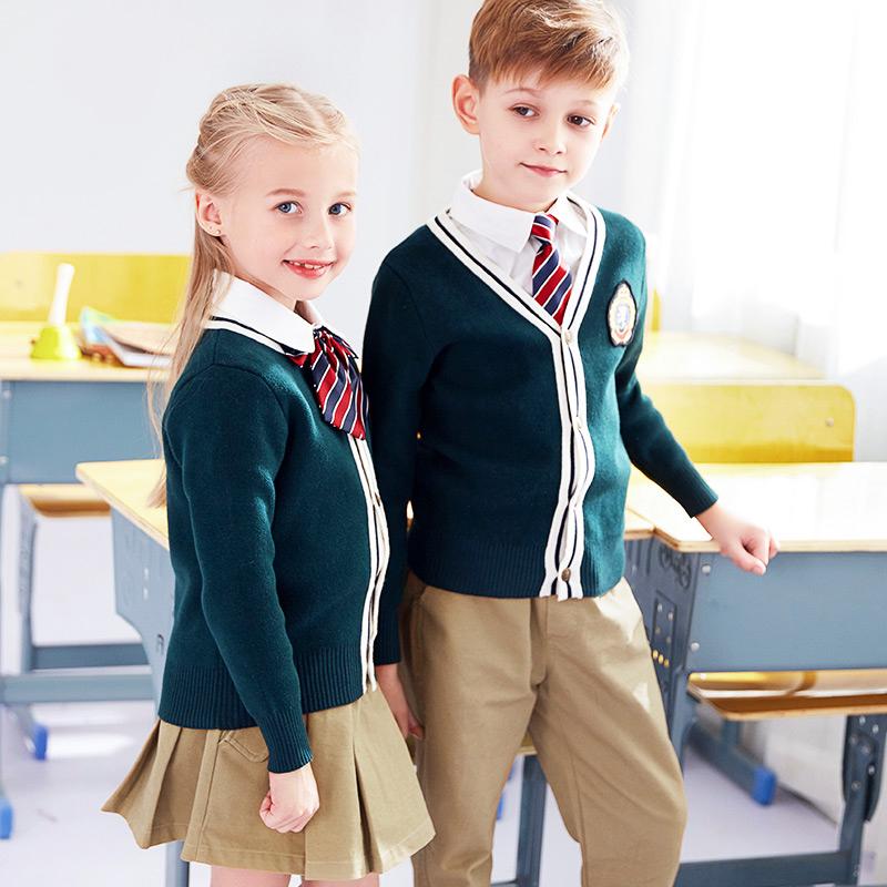 小学生儿童英伦风秋冬校服套装BL-0297ZX