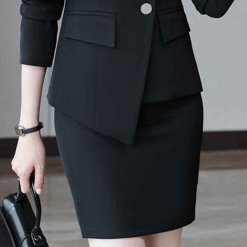 隐形拉链防走光包臂西裙女44-2033