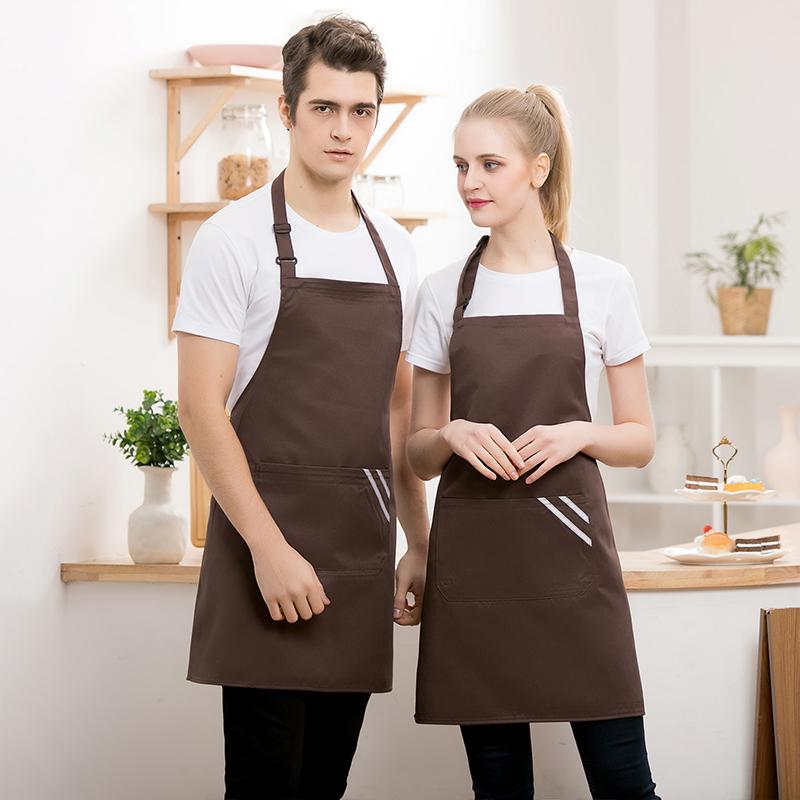 工作呢奶茶店服务员挂脖围裙YLYS-204