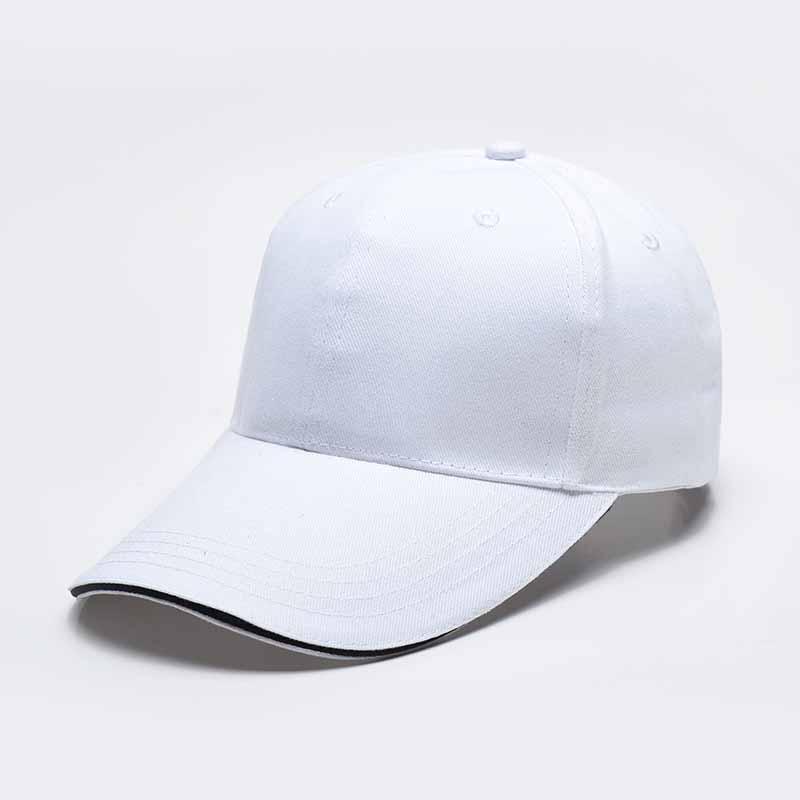 三文治纯棉粗纱卡六片帽广告帽HB-120