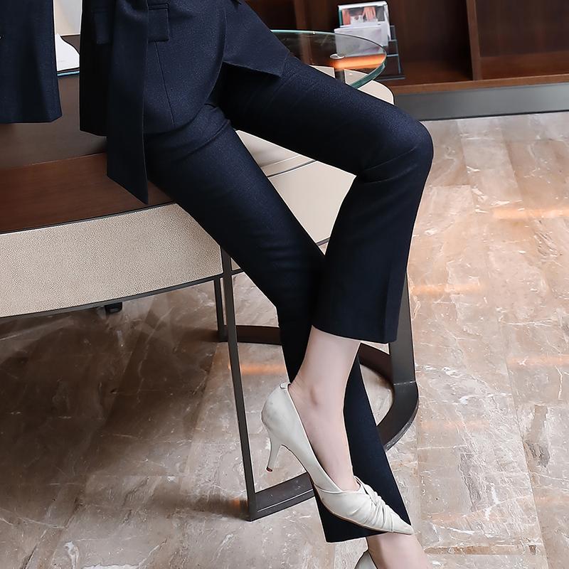 修身显瘦烟管直筒西裤女44-2028