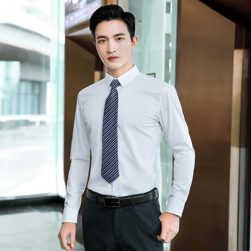 竹纤维平纹长袖衬衫男QZ-6308