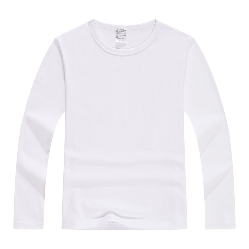 220g32支莱卡纯色圆领长袖T恤童款LS-1068