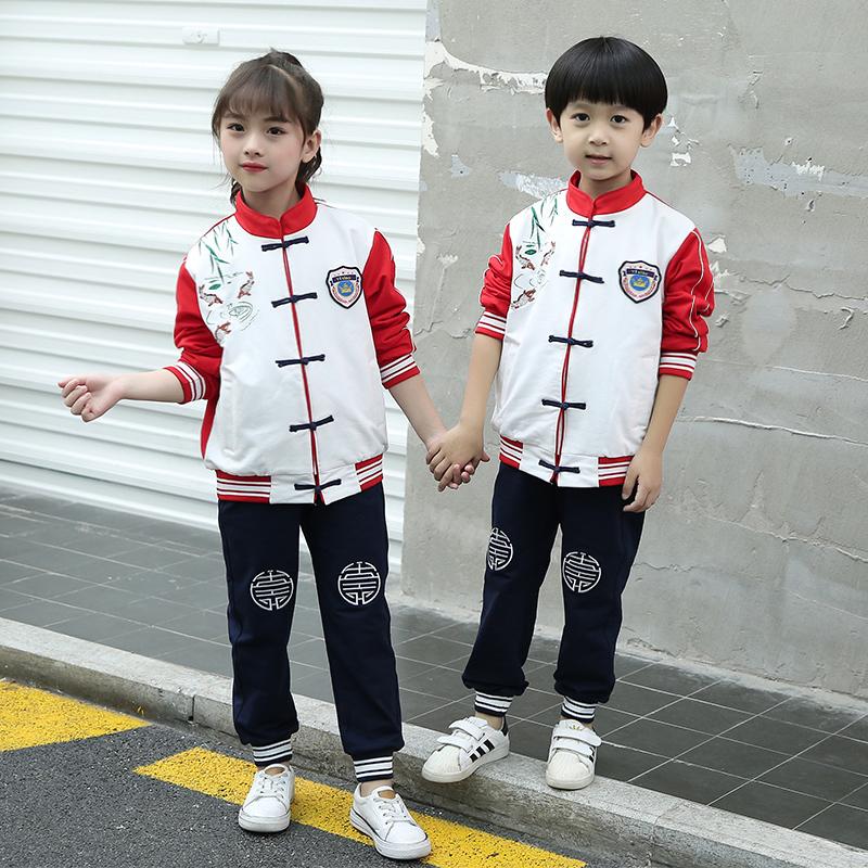 秋冬中小学生校服儿童班服中学生中国风校服两件套套装TYF-8829