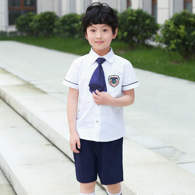 童装舞台节礼服舞蹈小孩夏季少儿朗诵童主持服装比赛演出服男女套装QRFS-8109