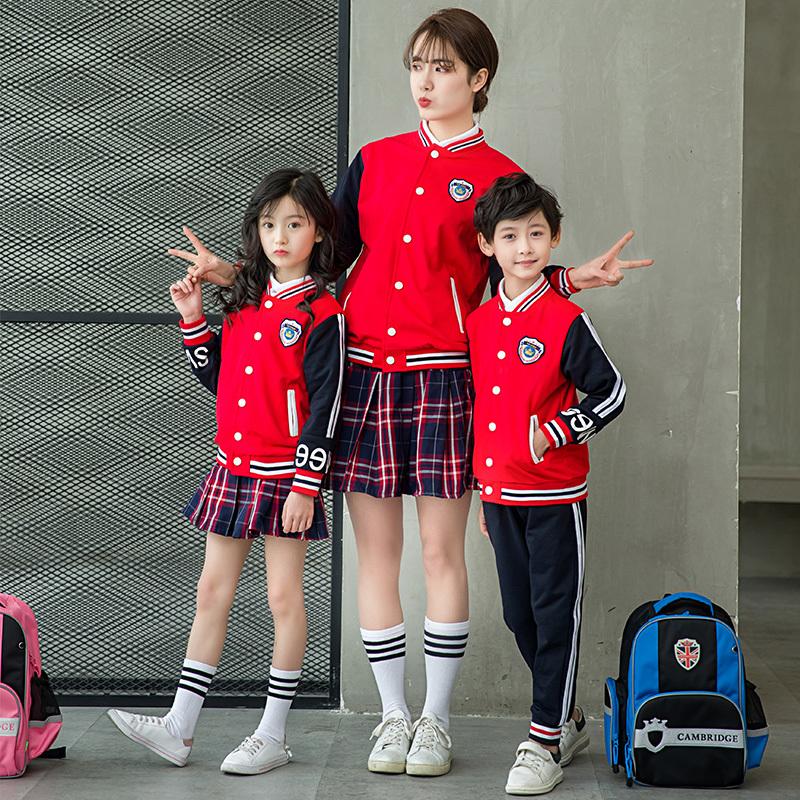 春秋中小学生儿童成人学院风校服班服两件套套装TYF-1805