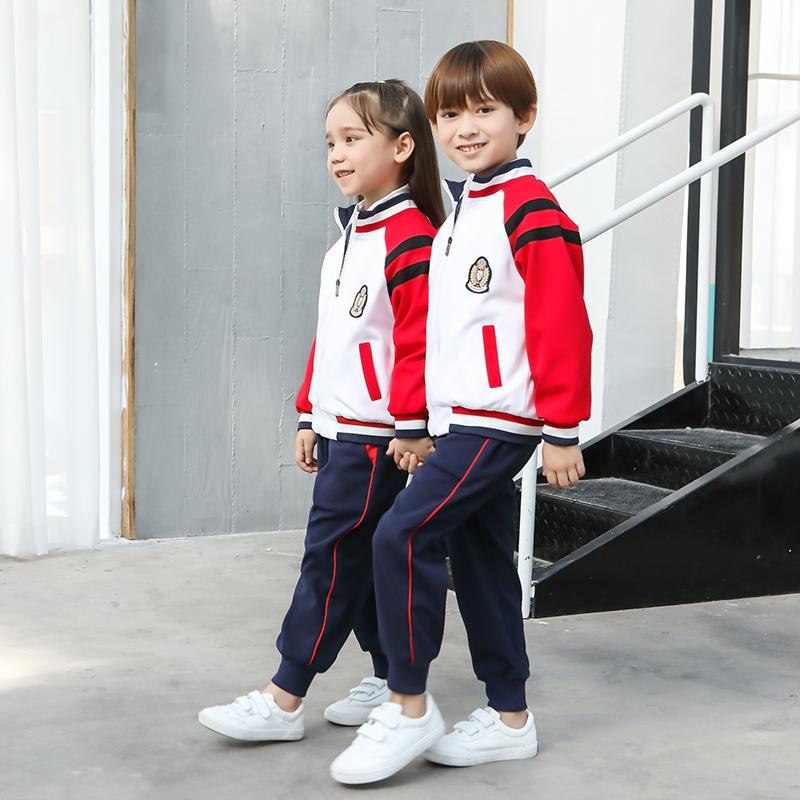运动风中小学生校服儿童班服三件套MMX-701三件套