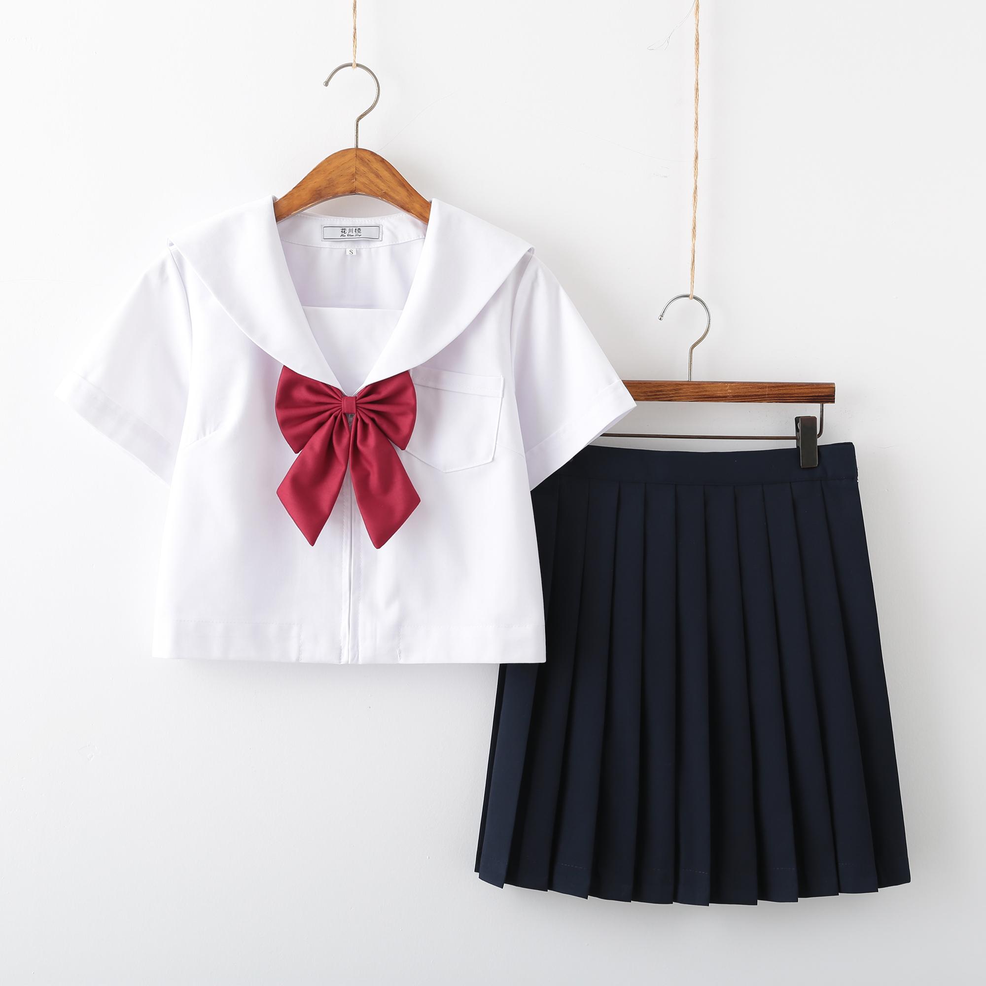学生制服女长短款英伦风校服套装白无本(不含配件)150-C0304085
