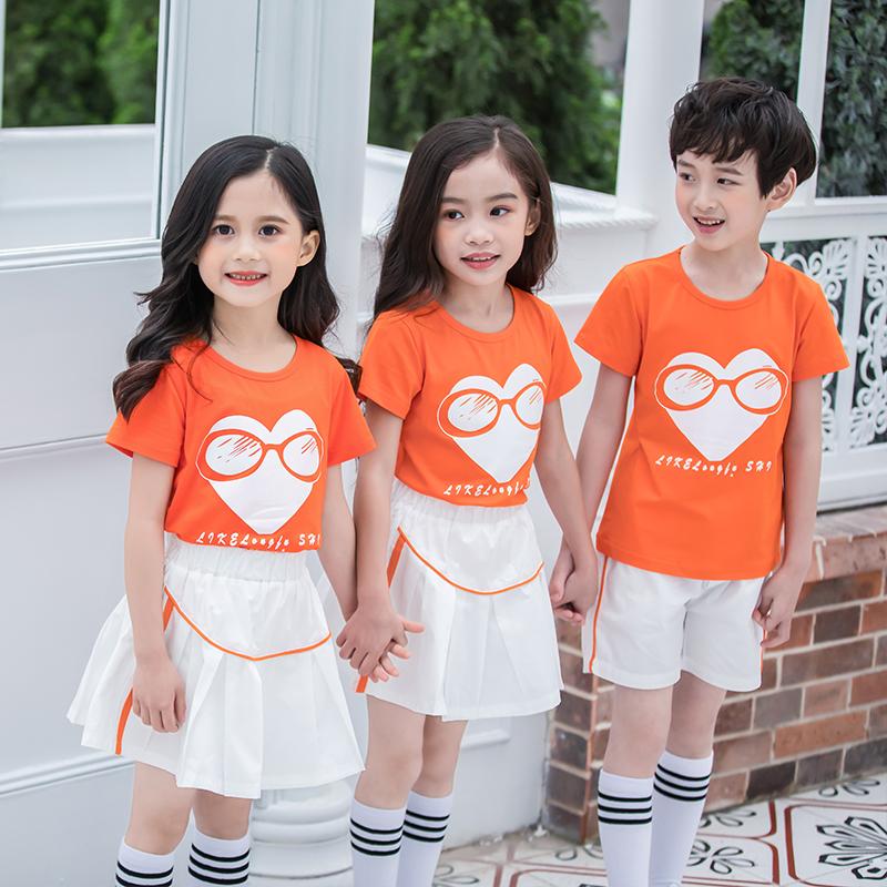 休闲运动套装两件套幼儿园园服爱心图案儿童套装LKL-8105