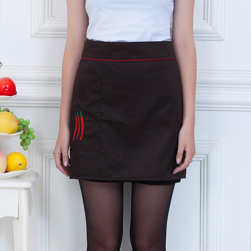 辣椒图案烘焙厨房小半截围裙YLYS-1248