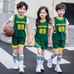 夏装儿童运动风篮球服套装印字89号小学生校服班服毕业服装新款LKL-8118