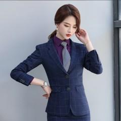 格子修身职业西装外套YRM-Y8003男-Y9003女